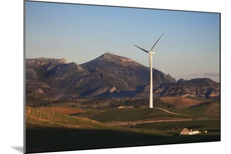 Windfarm Amidst Farmland Near Ardales, Andalucia, Spain--Mounted Photographic Print