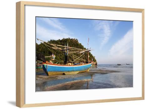 Fishing Boats at Sunset, Thailand-Christian Kober-Framed Art Print