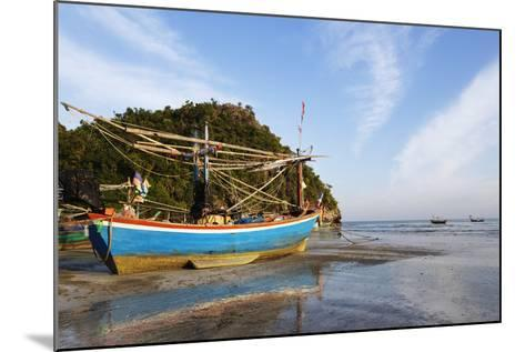 Fishing Boats at Sunset, Thailand-Christian Kober-Mounted Photographic Print