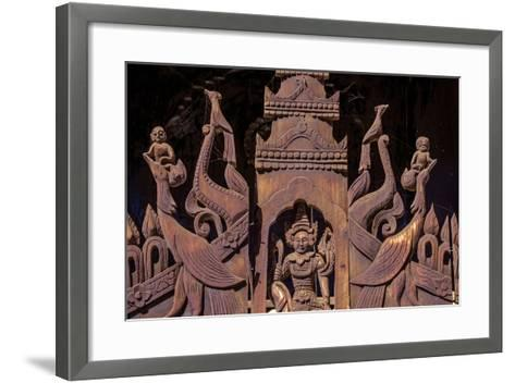 Nat Taung Wood Monastery, Dated 13th Century, Village of Taung Be, Bagan (Pagan), Myanmar (Burma)-Nathalie Cuvelier-Framed Art Print