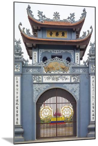 Gate of Chua Trinh Pagoda, Uong Bi, Quang Ninh Province, Vietnam, Indochina, Southeast Asia, Asia-Jason Langley-Mounted Photographic Print