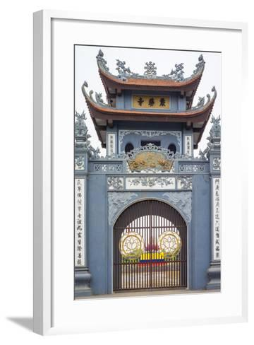 Gate of Chua Trinh Pagoda, Uong Bi, Quang Ninh Province, Vietnam, Indochina, Southeast Asia, Asia-Jason Langley-Framed Art Print