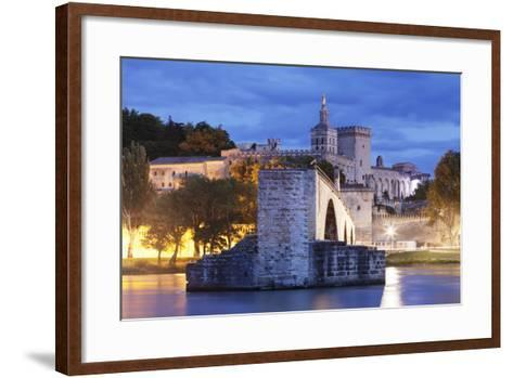 Bridge St. Benezet over Rhone River-Markus Lange-Framed Art Print