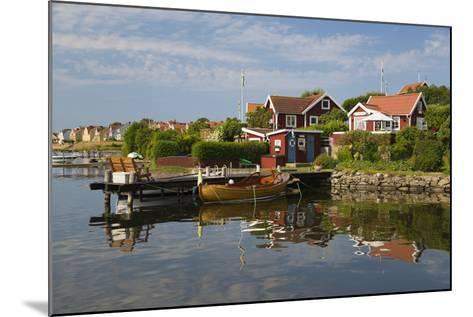 Swedish Red Summer Houses in Brandaholm, Dragso Island, Karlskrona, Blekinge, South Sweden, Sweden-Stuart Black-Mounted Photographic Print