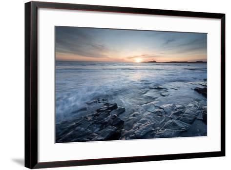 Dunstanburgh Castle at Sunrise, Seen from Embleton Bay, Northumberland, England, United Kingdom-Bill Ward-Framed Art Print