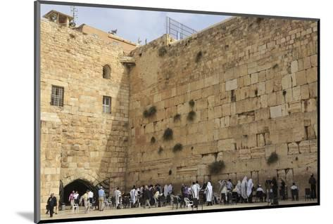 Men's Section, Western (Wailing) Wall, Temple Mount, Old City, Jerusalem, Middle East-Eleanor Scriven-Mounted Photographic Print