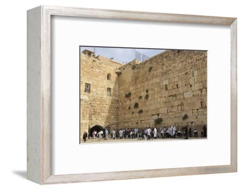 Men's Section, Western (Wailing) Wall, Temple Mount, Old City, Jerusalem, Middle East-Eleanor Scriven-Framed Art Print