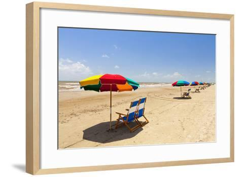 Stewart Beach, Galveston, Texas, United States of America, North America-Kav Dadfar-Framed Art Print