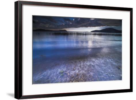 Stormy Lake Titicaca, Challapampa Village, Isla Del Sol (Island of the Sun), Bolivia, South America-Matthew Williams-Ellis-Framed Art Print