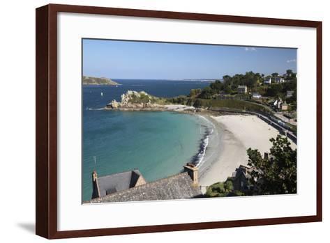 Trestrignel Beach and Pointe Du Chateau, Cote De Granit Rose-Stuart Black-Framed Art Print