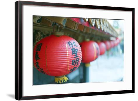 Chinese Temple, Jiufen, Taiwan, Asia-Christian Kober-Framed Art Print