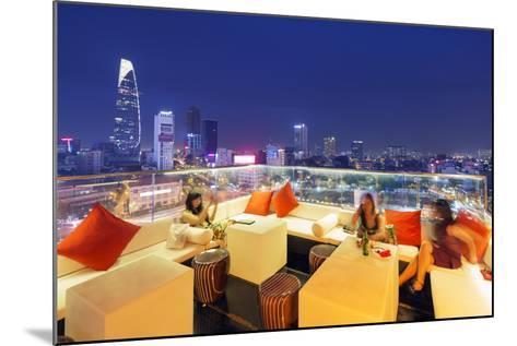 Rooftop Bar at Silverland Central Hotel and Spa, Ho Chi Minh City (Saigon), Vietnam, Indochina-Christian Kober-Mounted Photographic Print