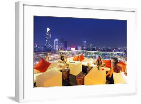 Rooftop Bar at Silverland Central Hotel and Spa, Ho Chi Minh City (Saigon), Vietnam, Indochina-Christian Kober-Framed Art Print