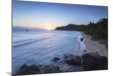 Waya Island at Sunset, Yasawa Islands, Fiji, South Pacific, Pacific-Ian Trower-Mounted Photographic Print