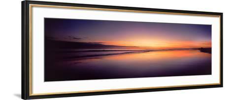 Beach at Sunrise, Papamoa Beach, Bay of Plenty, North Island, New Zealand--Framed Art Print