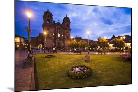 Cusco Cathedral Basilica of the Assumption of the Virgin at Night, Peru-Matthew Williams-Ellis-Mounted Photographic Print