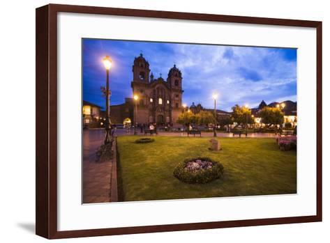 Cusco Cathedral Basilica of the Assumption of the Virgin at Night, Peru-Matthew Williams-Ellis-Framed Art Print