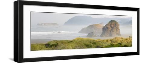 Rock Formations in the Ocean, Oregon Coast, Myers Creek Beach, Pistol River State Park, Oregon, Usa--Framed Art Print