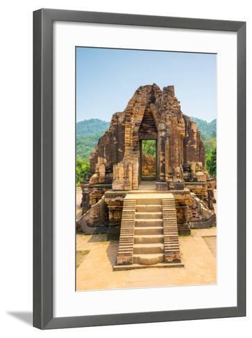My Son Ruins, Cham Temple Site, Duy Xuyen District, Quang Nam Province, Vietnam-Jason Langley-Framed Art Print