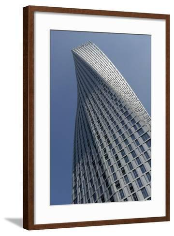 Infinity Tower Features 495 Apartments in a Helical Shape That Swivels 90 Degrees from Base to Top-Bruno Barbier-Framed Art Print