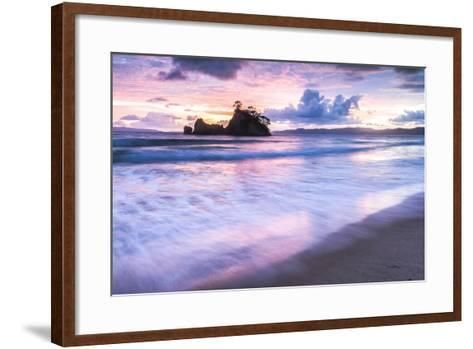 Pungapunga Island at Whangapoua Beach at Sunrise, Coromandel Peninsula, North Island, New Zealand-Matthew Williams-Ellis-Framed Art Print