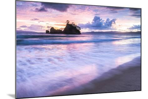 Pungapunga Island at Whangapoua Beach at Sunrise, Coromandel Peninsula, North Island, New Zealand-Matthew Williams-Ellis-Mounted Photographic Print