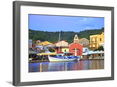 Gaios Harbour, Paxos, the Ionian Islands, Greek Islands, Greece, Europe-Neil Farrin-Framed Art Print