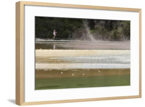 Champagne Pool, Hot Springs, Waiotapu Goethermal Wonderland, Rotorua, New Zealand, Oceania-Jeremy Bright-Framed Art Print
