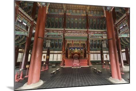 Vivid Colours of Imperial Throne Hall (Geunjeongjeon) Interior, Seoul, South Korea-Eleanor Scriven-Mounted Photographic Print