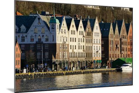View on the Harbour in Bryygen Area, Bergen, Hordaland, Norway, Scandinavia, Europe-Robert Harding-Mounted Photographic Print