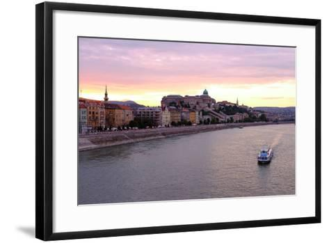 The Danube River and Buda Castle, Budapest, Hungary, Europe-Carlo Morucchio-Framed Art Print