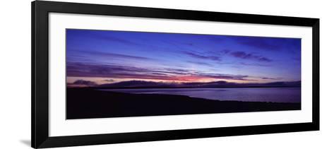 Sunset over Scapa Flow Overlooking the Oil Terminal at Flotta, Orkney Islands, Scotland--Framed Art Print