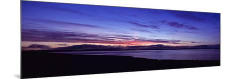 Sunset over Scapa Flow Overlooking the Oil Terminal at Flotta, Orkney Islands, Scotland--Mounted Photographic Print