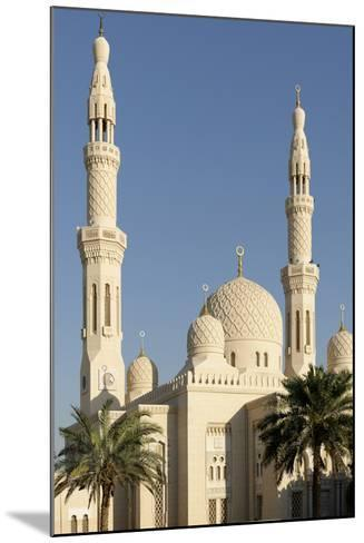 Jumeirah Mosque, Built in the Medieval Fatimid Tradition, Dubai, United Arab Emirates, Middle East-Bruno Barbier-Mounted Photographic Print