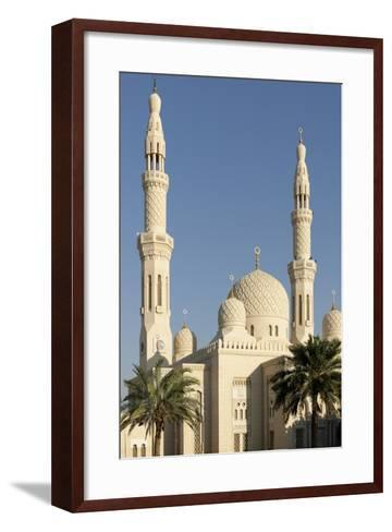 Jumeirah Mosque, Built in the Medieval Fatimid Tradition, Dubai, United Arab Emirates, Middle East-Bruno Barbier-Framed Art Print
