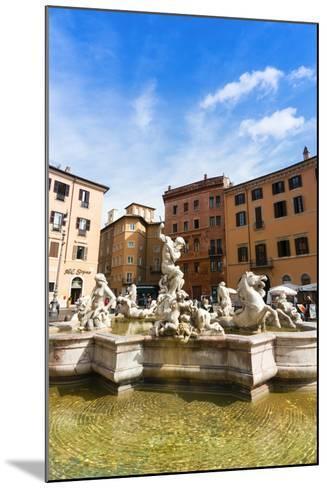 Fountain of Neptune, Piazza Navona, Rome, UNESCO World Heritage Site, Latium, Italy, Europe-Nico Tondini-Mounted Photographic Print