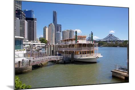 Brisbane River, Story Bridge and City Reach Boardwalk, Brisbane, Queensland, Australia, Oceania-Frank Fell-Mounted Photographic Print