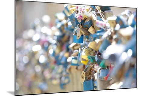 Czech Republic, Prague - Abundance of Love Padlocks on Railings--Mounted Photographic Print