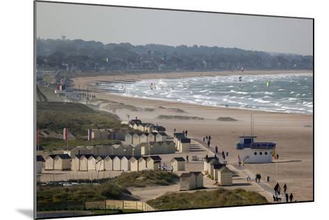 View over Plage De Riva Bella Beach, Ouistreham, Normandy, France, Europe-Stuart Black-Mounted Photographic Print