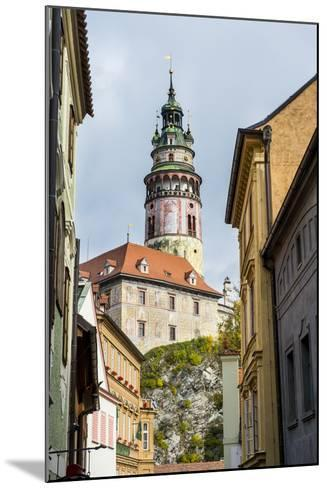 View Through the Gothic House Facades to the Krumlov Castle, Cesky Krumlov, Czech Republic, Europe-Michael Runkel-Mounted Photographic Print
