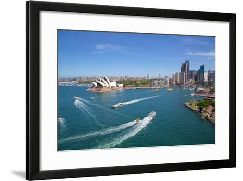 Sydney Opera House and Harbour, Sydney, New South Wales, Australia, Oceania-Frank Fell-Framed Art Print