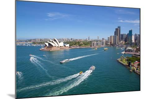 Sydney Opera House and Harbour, Sydney, New South Wales, Australia, Oceania-Frank Fell-Mounted Photographic Print
