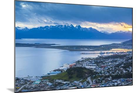Sunset at Ushuaia, the Southern Most City in the World, Tierra Del Fuego, Patagonia, Argentina-Matthew Williams-Ellis-Mounted Photographic Print