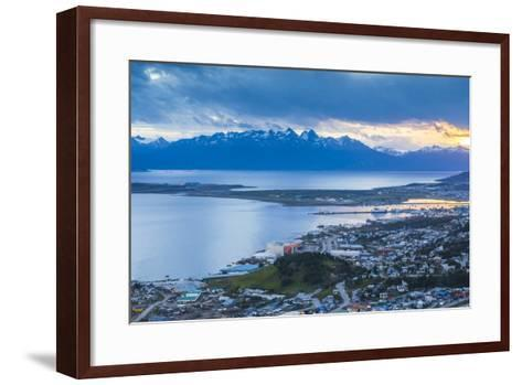 Sunset at Ushuaia, the Southern Most City in the World, Tierra Del Fuego, Patagonia, Argentina-Matthew Williams-Ellis-Framed Art Print