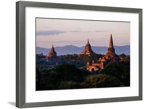 Buddhist Temples, Bagan (Pagan), Myanmar (Burma), Asia-Nathalie Cuvelier-Framed Art Print