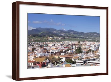 View over San Cristobal De La Laguna to Pico Del Teide, Tenerife, Canary Islands, Spain, Europe-Markus Lange-Framed Art Print