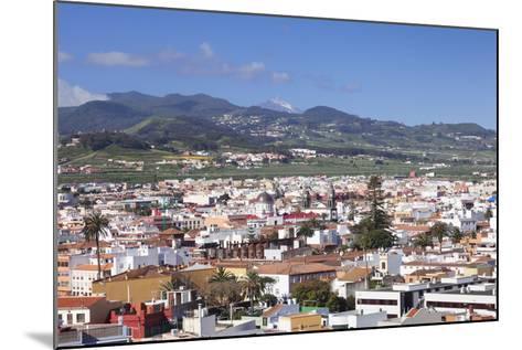 View over San Cristobal De La Laguna to Pico Del Teide, Tenerife, Canary Islands, Spain, Europe-Markus Lange-Mounted Photographic Print
