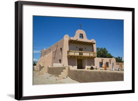 Pueblo Mission, San Ildefonso Pueblo, Pueblo Dates to 1300 Ad, New Mexico, United States of America-Richard Maschmeyer-Framed Art Print
