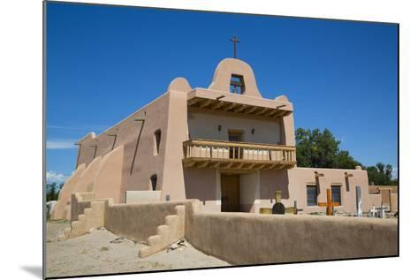 Pueblo Mission, San Ildefonso Pueblo, Pueblo Dates to 1300 Ad, New Mexico, United States of America-Richard Maschmeyer-Mounted Photographic Print