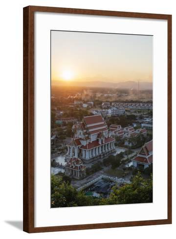 Wat Thammikaram Worawihan Temple, Prachuap Kiri Khan, Thailand, Southeast Asia, Asia-Christian Kober-Framed Art Print